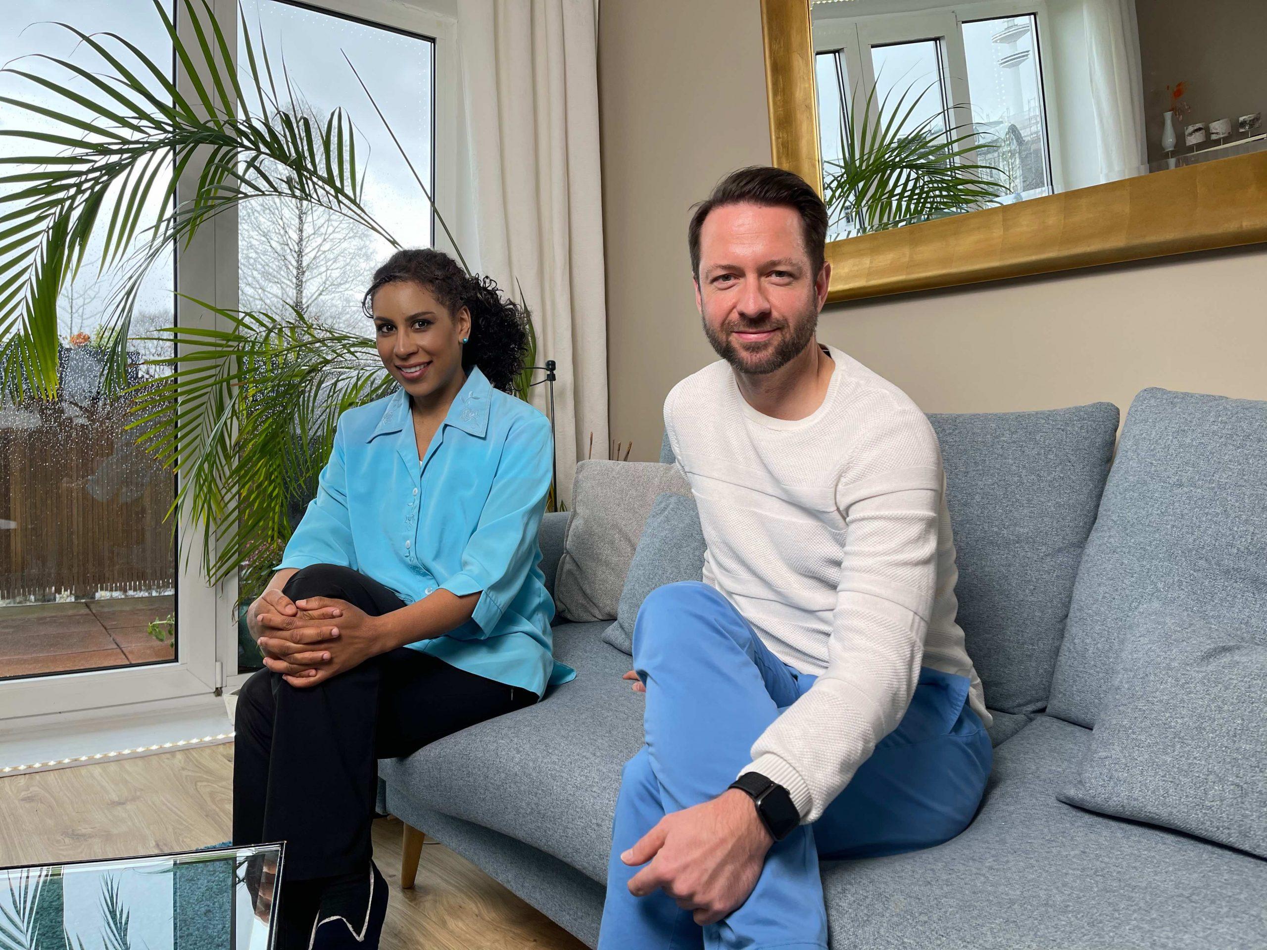 David Wehle mit Bintu Cham