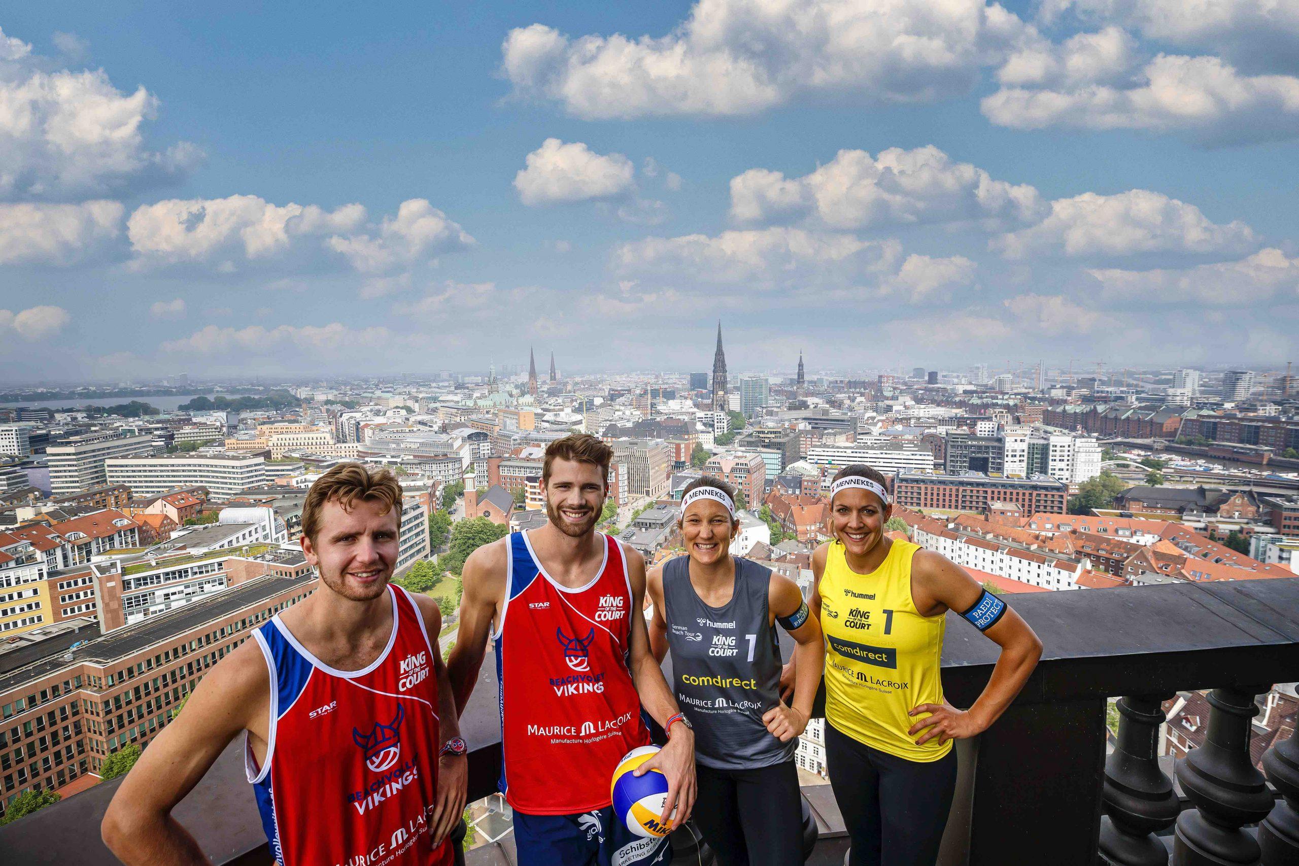 King of the Court in Hamburg mit  Anders Mol, Christian Sørum, Victoria Bieneck & Isabel Schneider