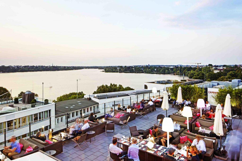 Hamburg Dachterrassen Campari Lounge
